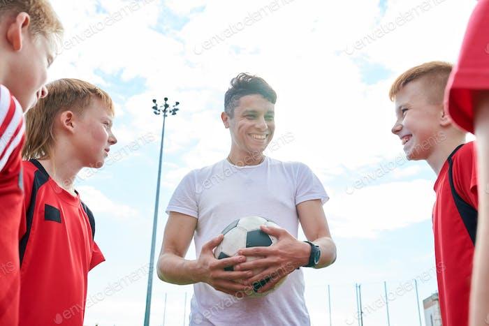Young Football Coach