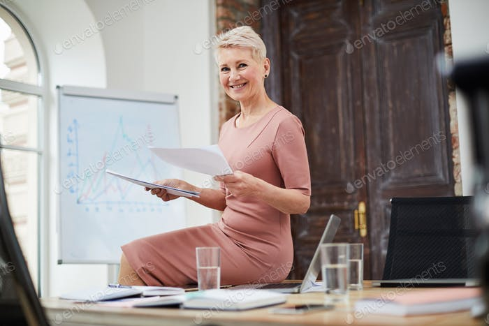 Mature Businesswoman in Office