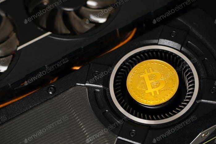 Tarjeta Gráficos Bitcoin en GPU utilizada para la minería de moneda criptográfica