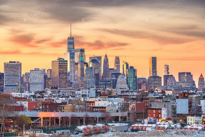 New York, New York, USA Skyline