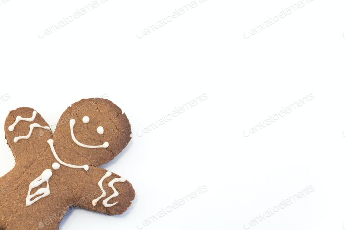 Gingerbread Cookie  Man with Copy Space