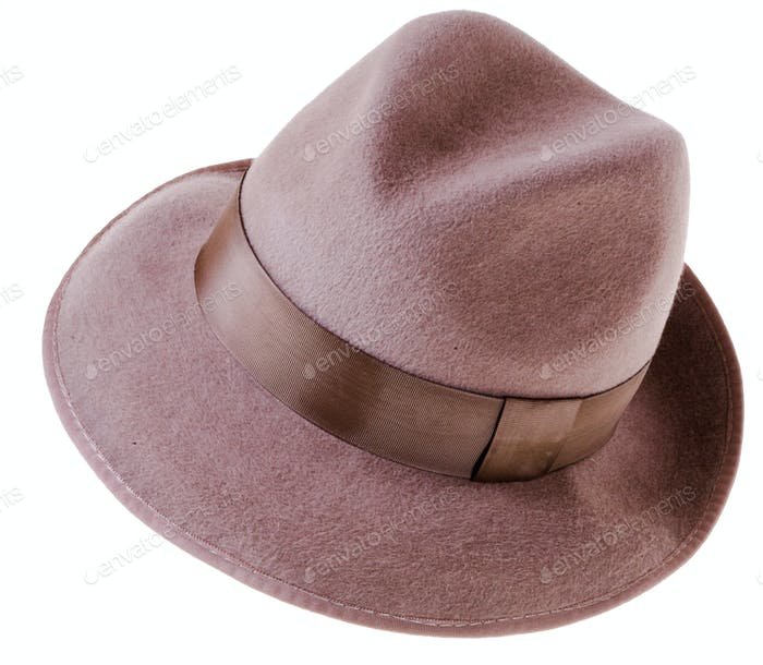 Classic brown felt man's hat