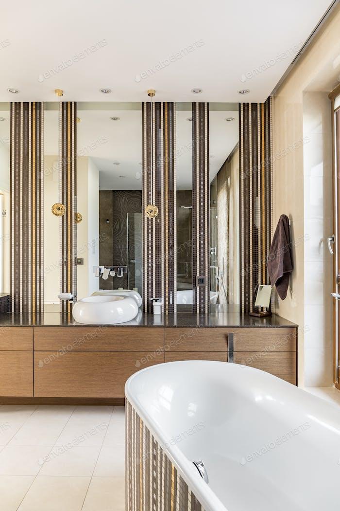 Bathroom designed with elegance