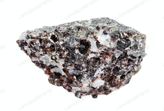 unpolished Phlogopite (magnesium mica) isolated