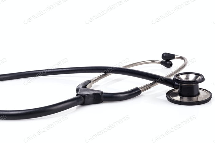 Isolated Black Stethoscope