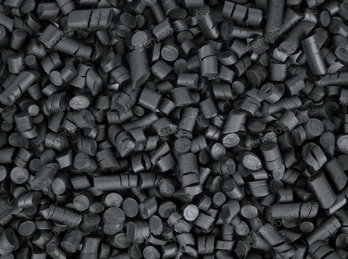 Black rubber granules
