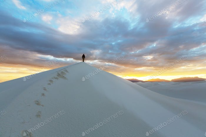 Hike in White desert