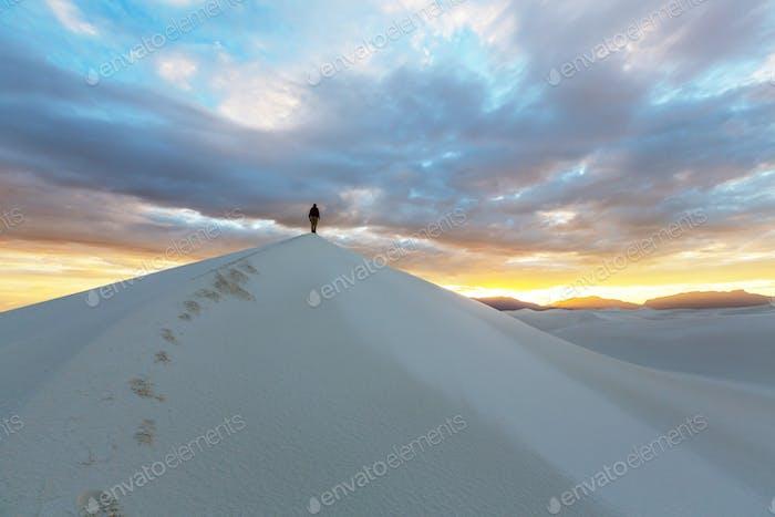 Wanderung in der Weißen Wüste