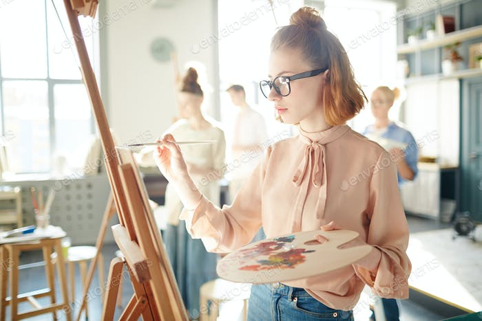 Student of painting school