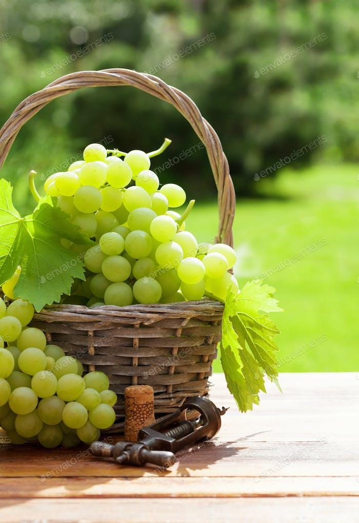 White grape basket