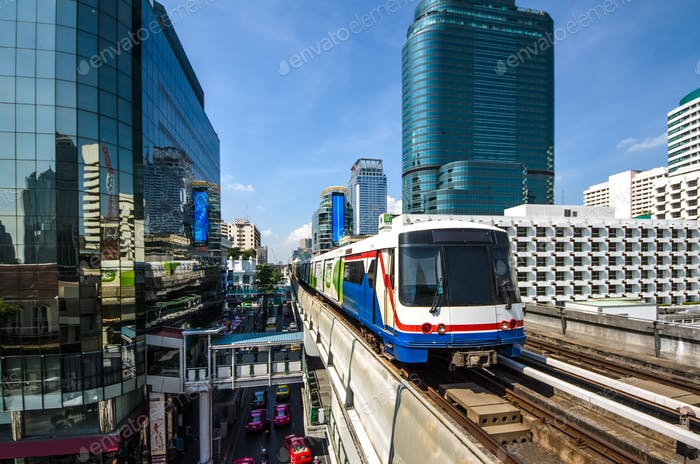 Bangkok Electric Train at Sukhumvit Route