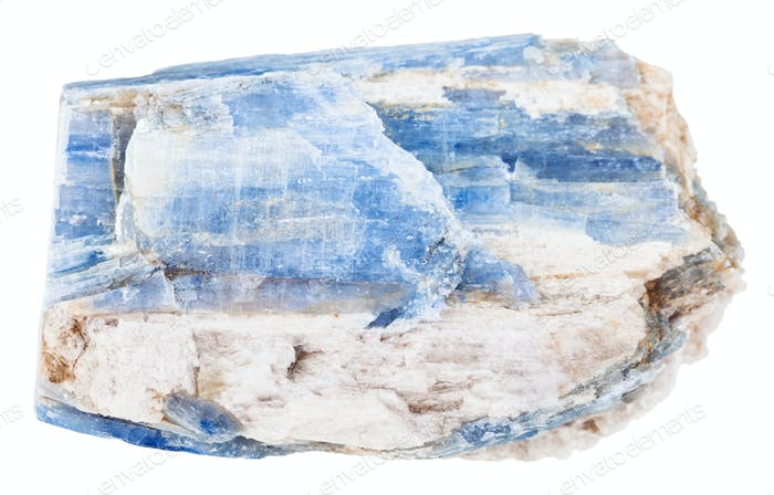 natural kyanite stone isolated on white