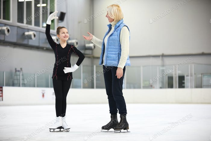 Figure Skating Practice with Coach