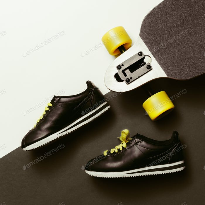 Sneakers and Skateboard