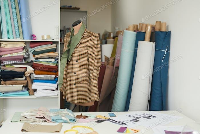 Model of jacket in workshop