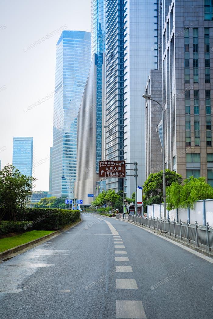 city road in shanghai
