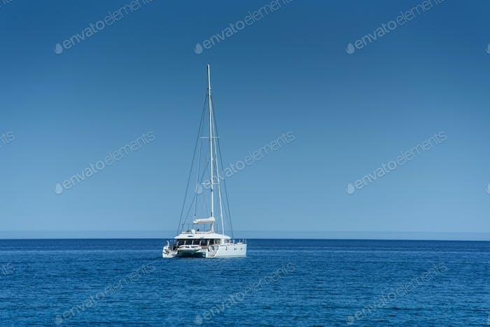 Boat in the sea. Beauty world.