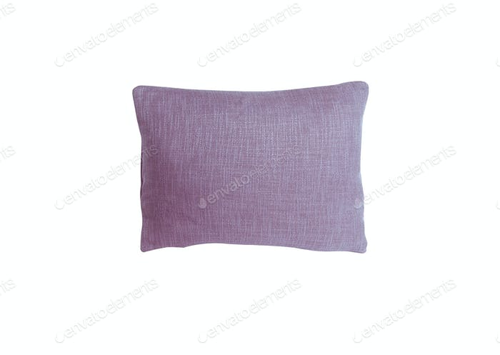 purple pillow isolated on white