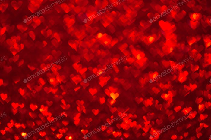 Abstract light, bokeh pattern in heart shape
