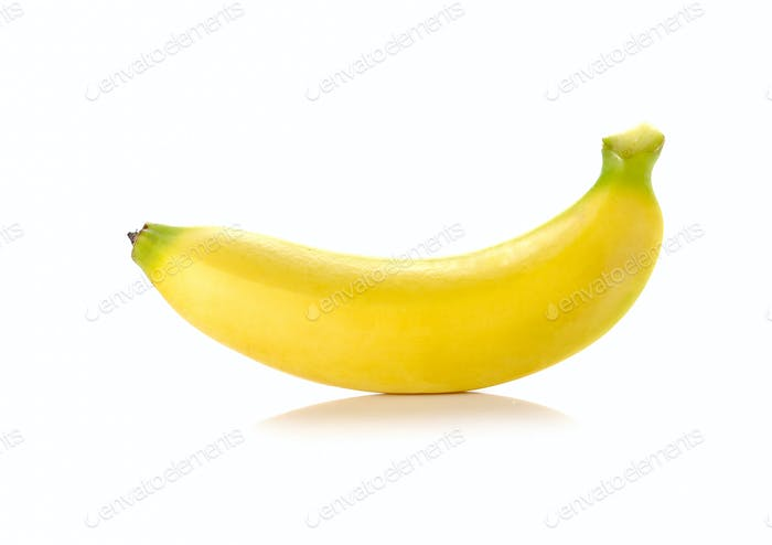 Banana on white background.