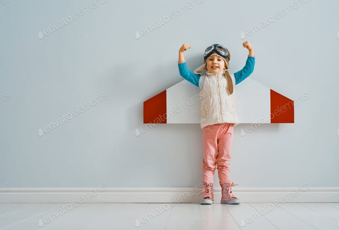 girl in an astronaut costume