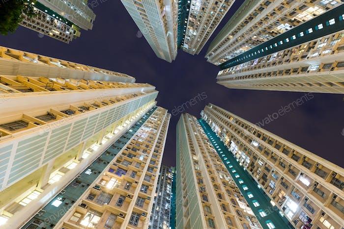 Skyscraper building to the sky