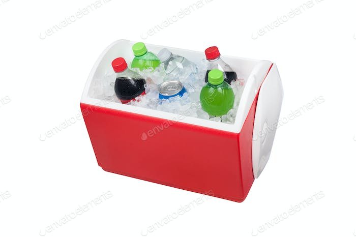 Ice chest and drinks