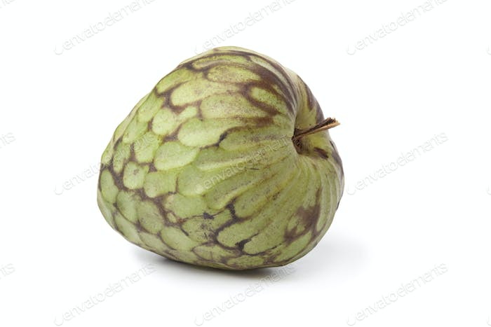 Whole single Cherimoya fruit