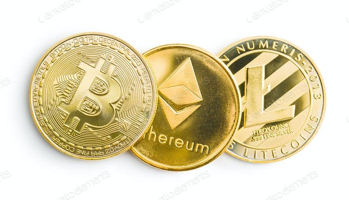 Bitcoin, litecoin and ethereum.