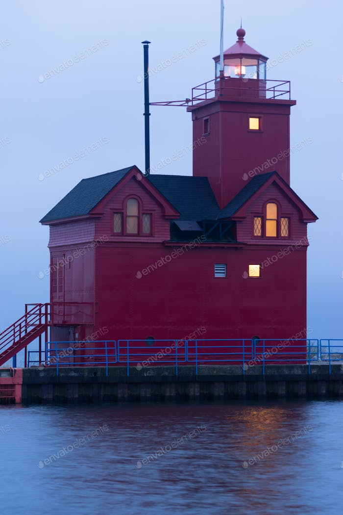 The Red Lighthouse Lake Macatawa Holland Michigan Great lakes