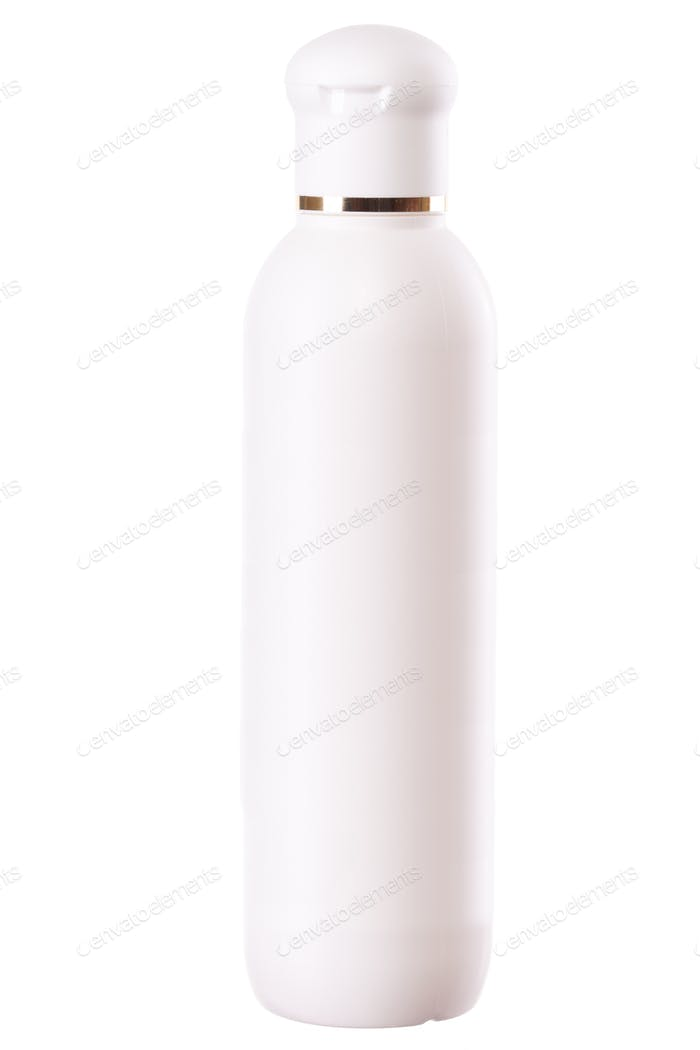 Plastic bottle isolated over white background