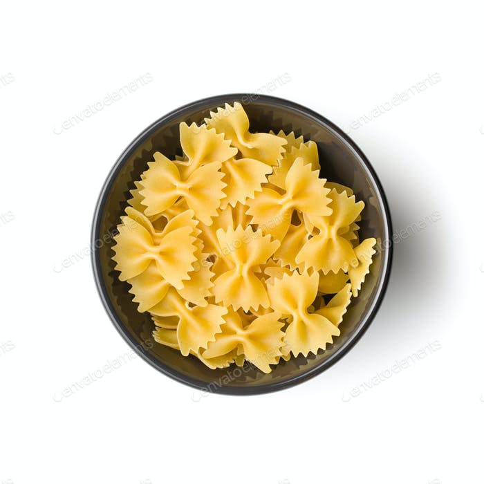 Thumbnail for Farfalle pasta. Tasty italian pasta in bowl.