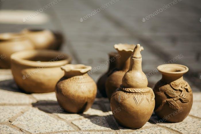 Tontopf und Vase Handwerk