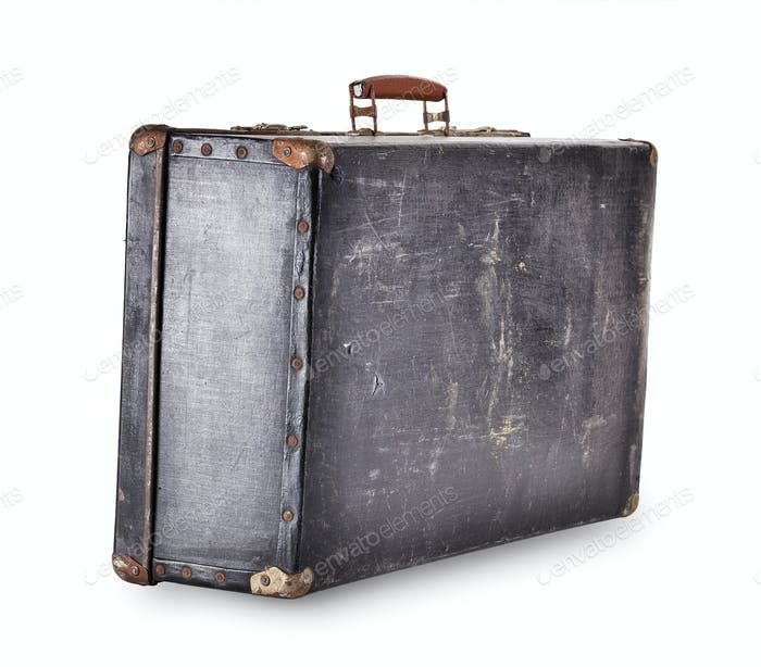 The old suitcase isolated