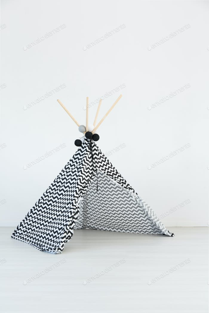 Teepee in spacious room