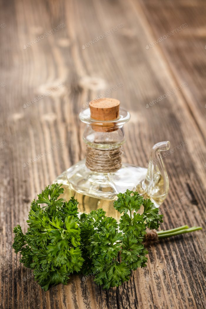 Olive oil and parsley