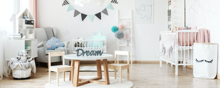 Room prepared for baby