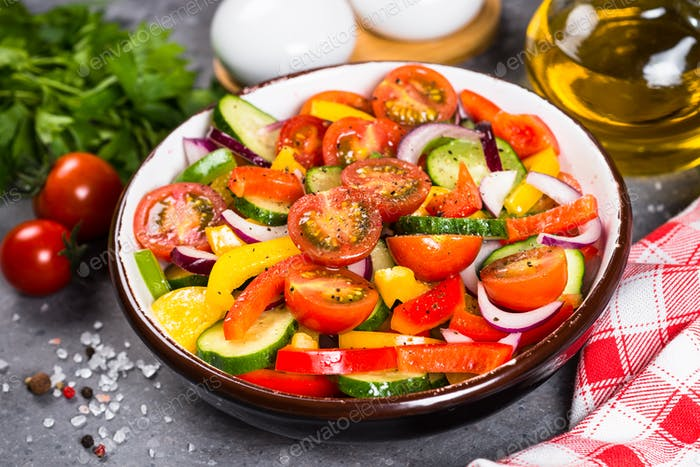 Summer fresh vegetable salad
