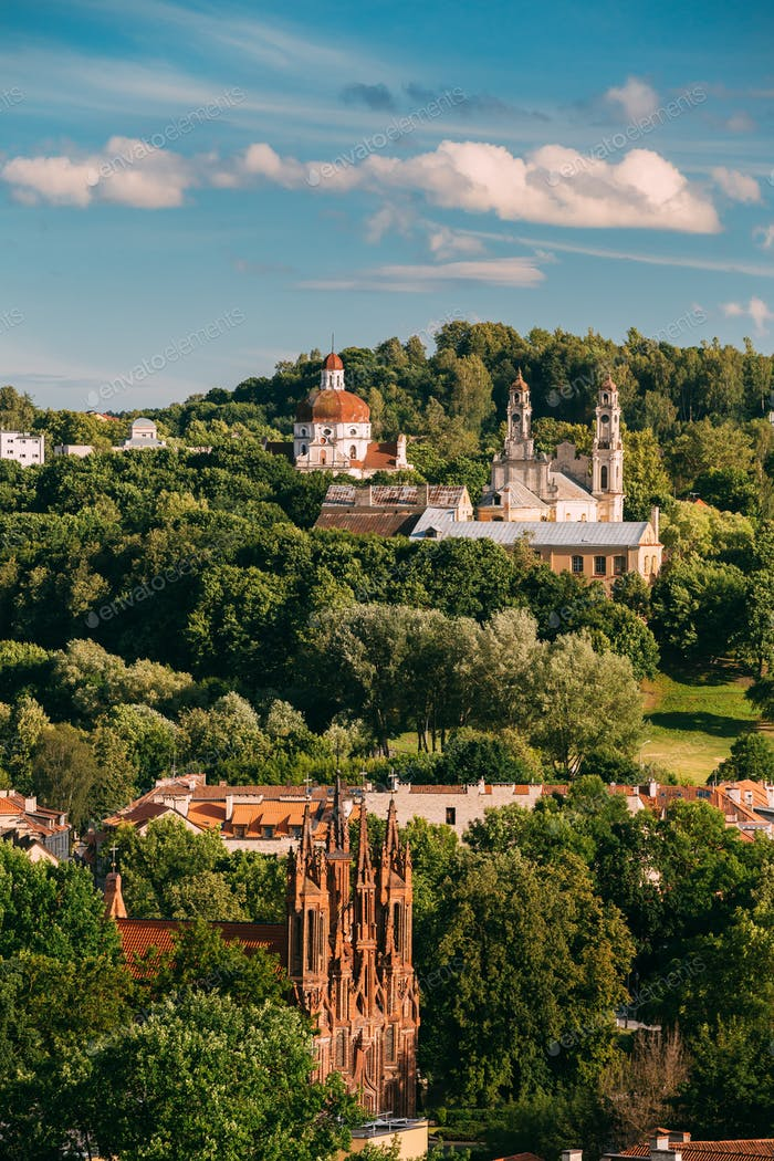 Vilnius, Lithuania. View Of Roman Catholic Church Of St. Anne, C