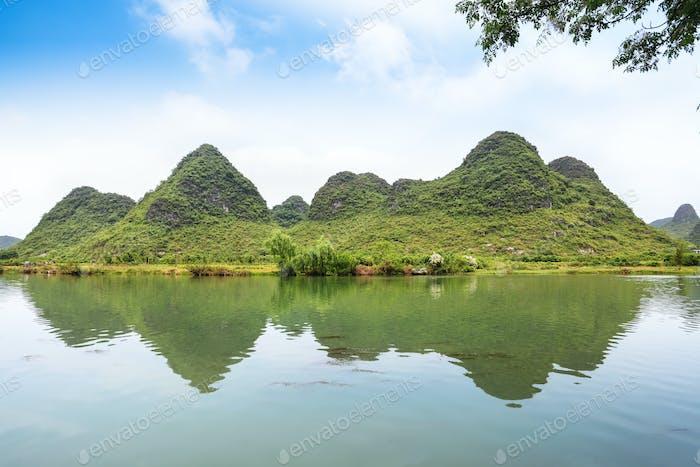 beautiful yulong river landscape