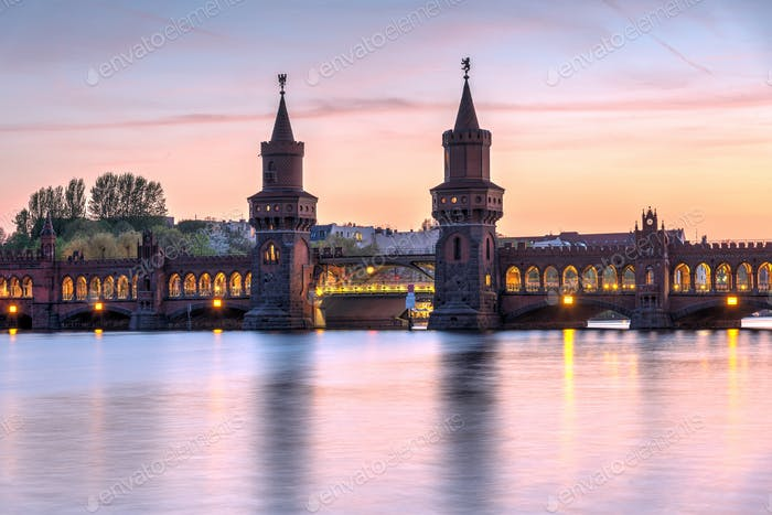 The lovely Oberbaumbruecke across the river Spree