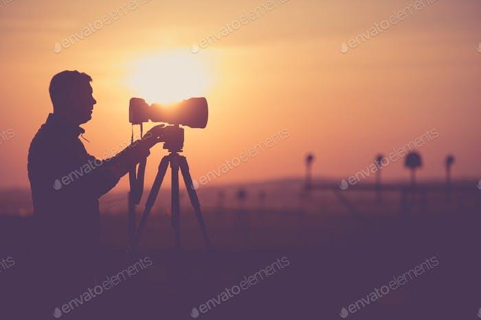 Men Taking Outdoor Pictures