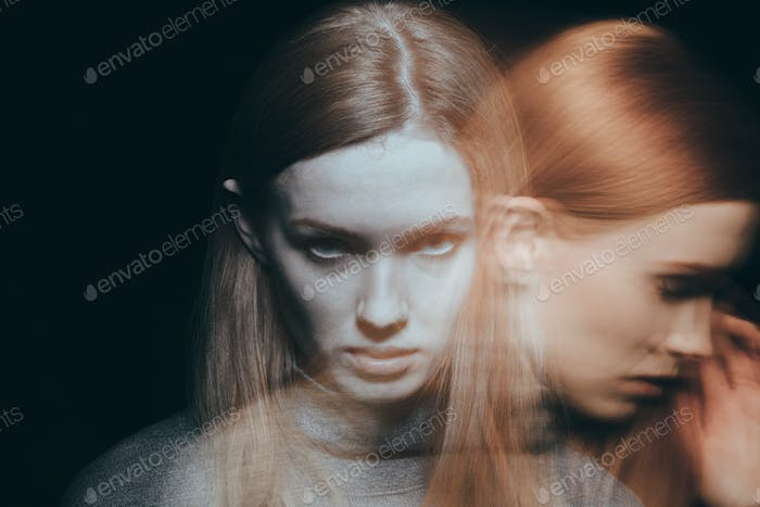 Woman feeling grief and sorrow