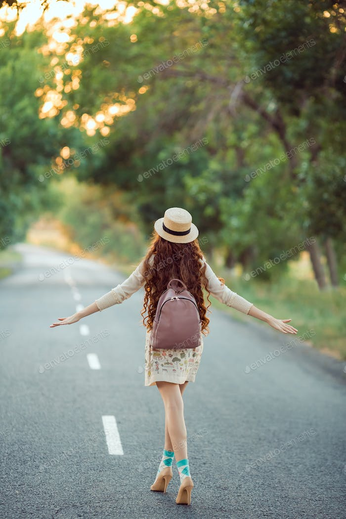 Beautiful Young Woman Traveling
