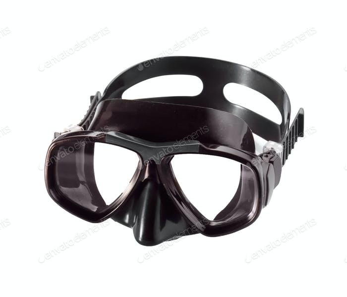 diving mask isolated on white background