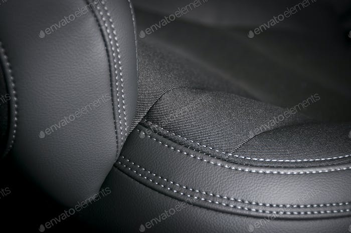 Leather and textile car seats