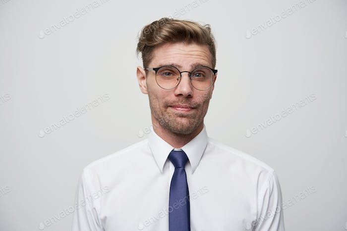 Attractive male with fashioned hairstyle