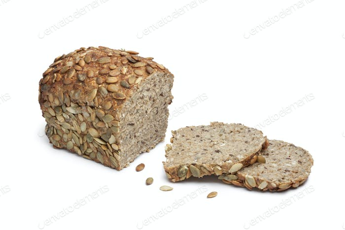 Pumpkin seed bread and slices