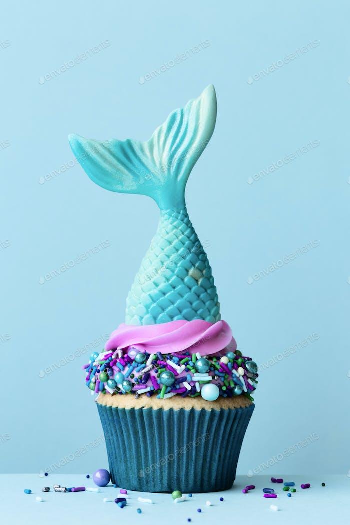Meerjungfrau-Schwanz Cupcake