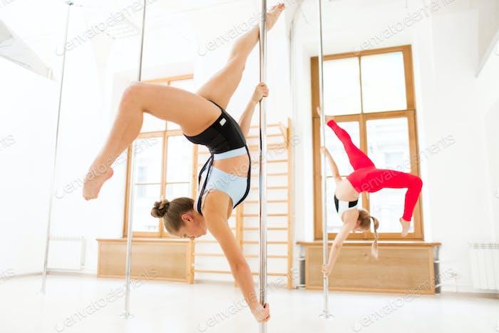 Gymnastics on poles